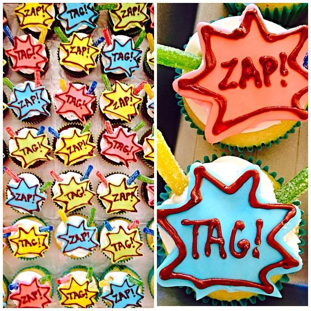 Frost Cake Co Laser Tag Cupcakes Zap Tag