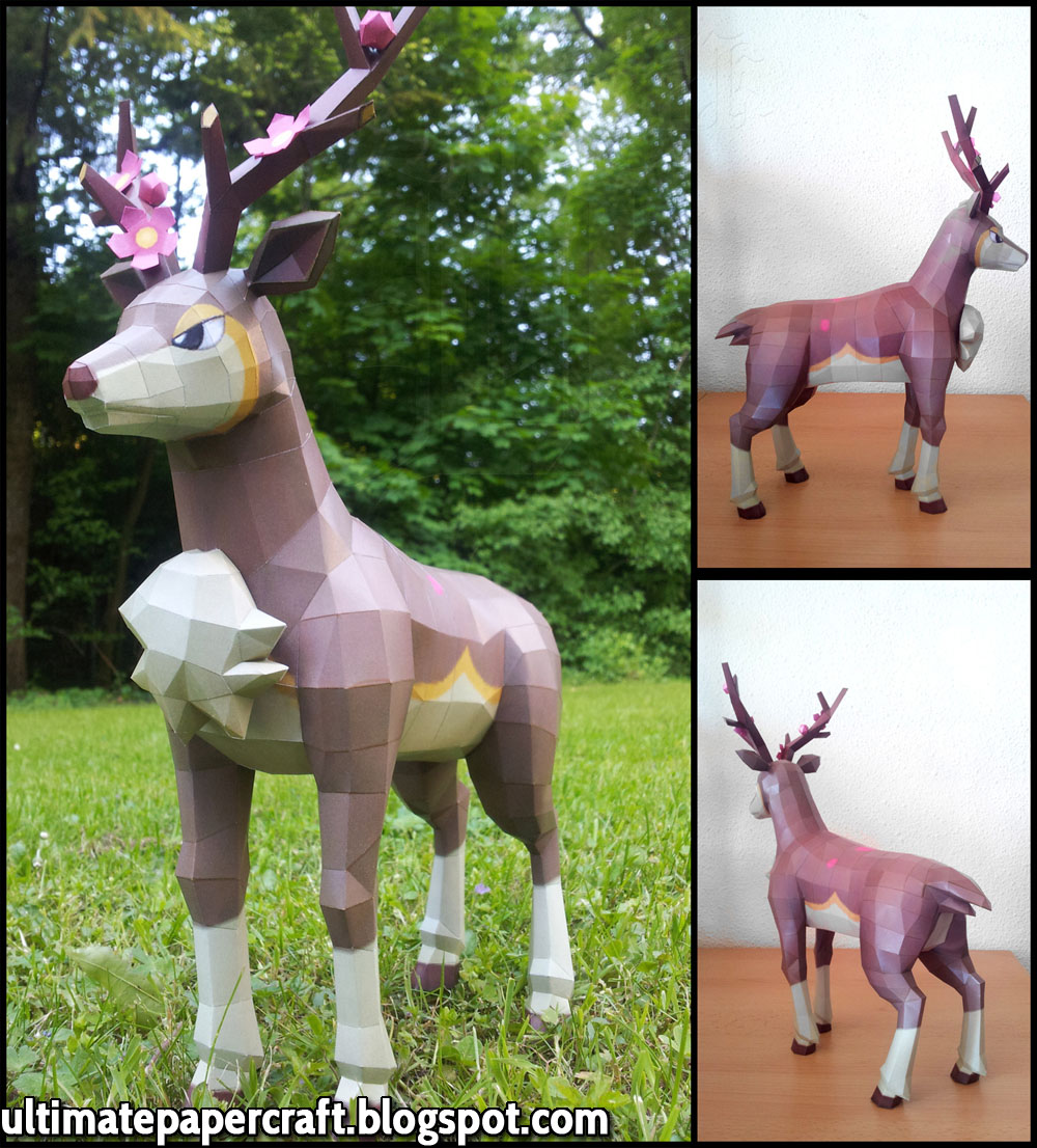 Pokemon Sawsbuck Papercraft