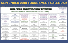 September Tournament Calendar