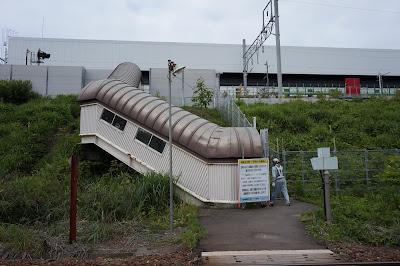 津軽今別駅へ続く階段