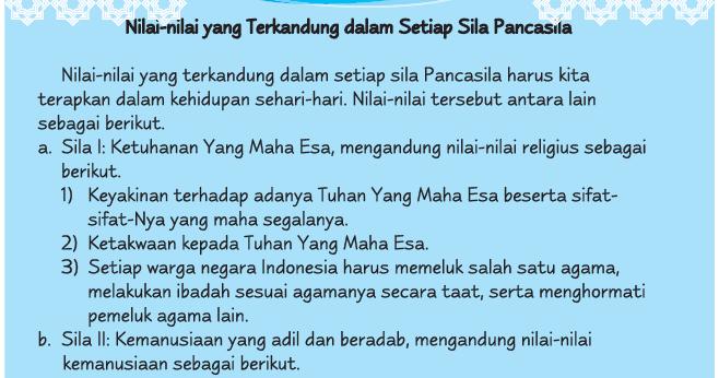 Mapel PKN (Pancasila): Nilai-Nilai Kebersamaan dalam ...
