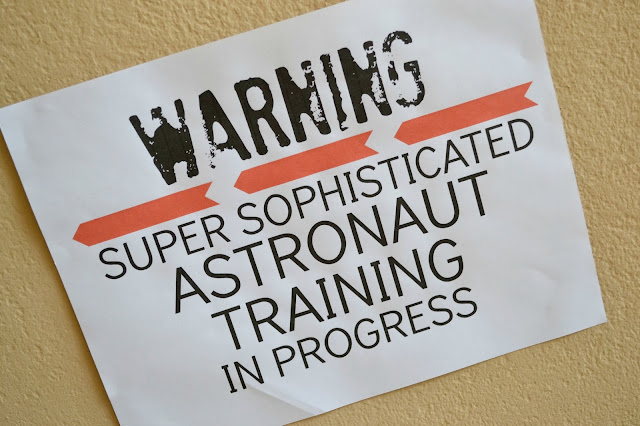 Mommy Testers DIY Space camp astronaut training sign  #Unplug2Play #cbias
