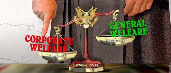 """Supreme Court - Tipping the Scales of Justice"" (Illustration by DonkeyHotey)"