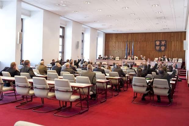 Plenarsaal des Landtages  Mecklenburg-Vorpommern.  Foto: Uwe Balewski