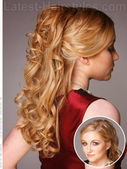 Prom hairstyles 2014 half up half down