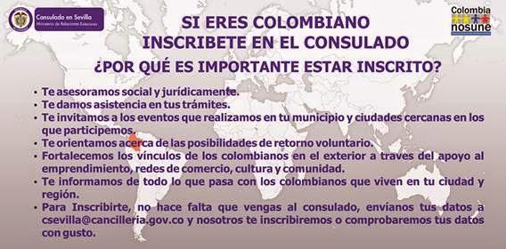 CONSULADO COLOMBIA EN SEVILLA