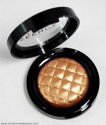 Sephora Collection Outrageous Prisma Chrome Metallic Eyeshadow in Golden Peach #2 Review and Swatches