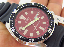 SEIKO DIVER 6309 7290 RED DIAL - BLACK BEZEL - AUTOMATIC