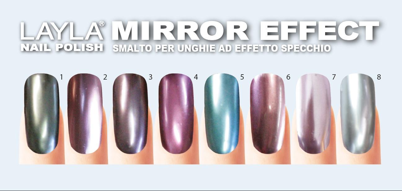 Il mondo di valy smalto effetto specchio mirror effect nail polish di layla cosmetic - Unghie gel specchio ...