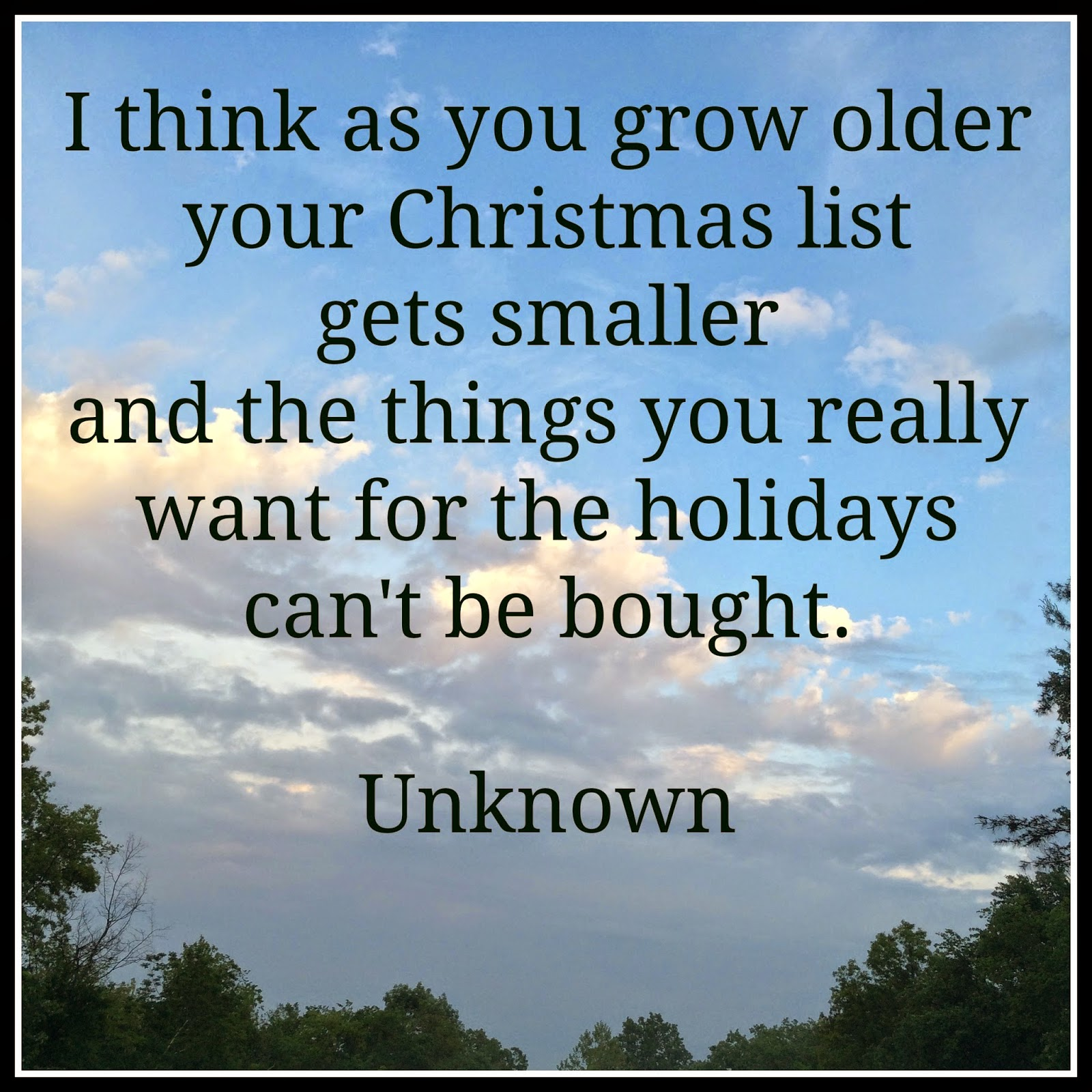 Shrinking Christmas List Content In A Cottage