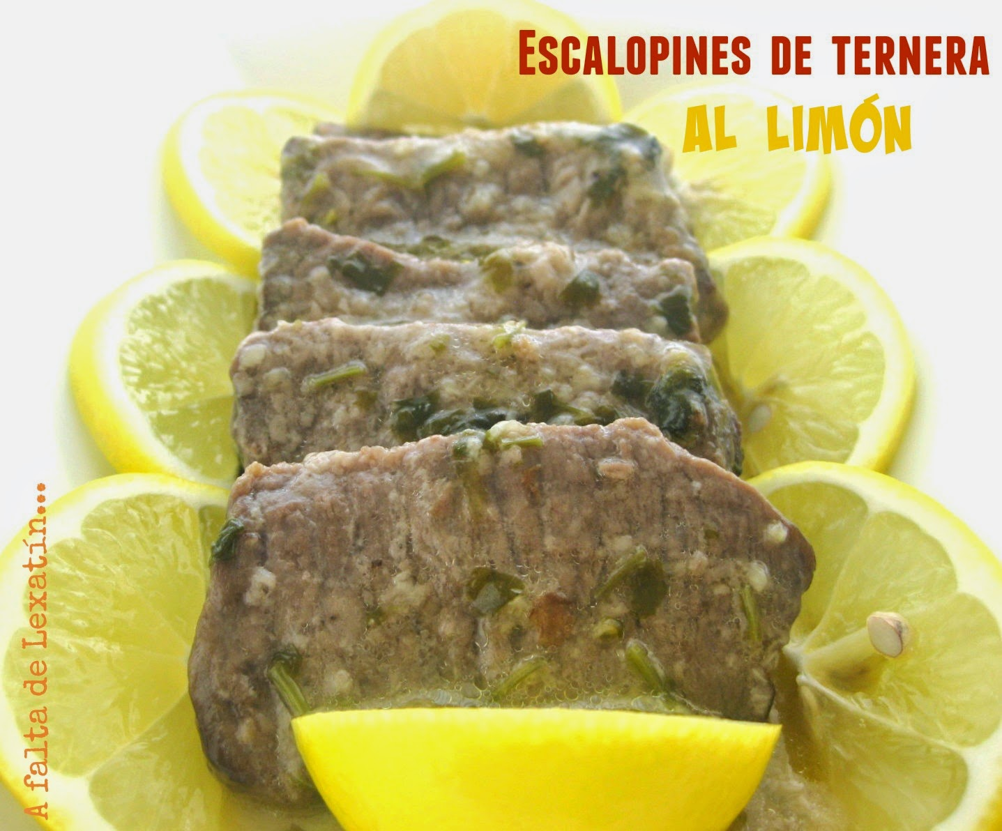 Escalopines de ternera al limón