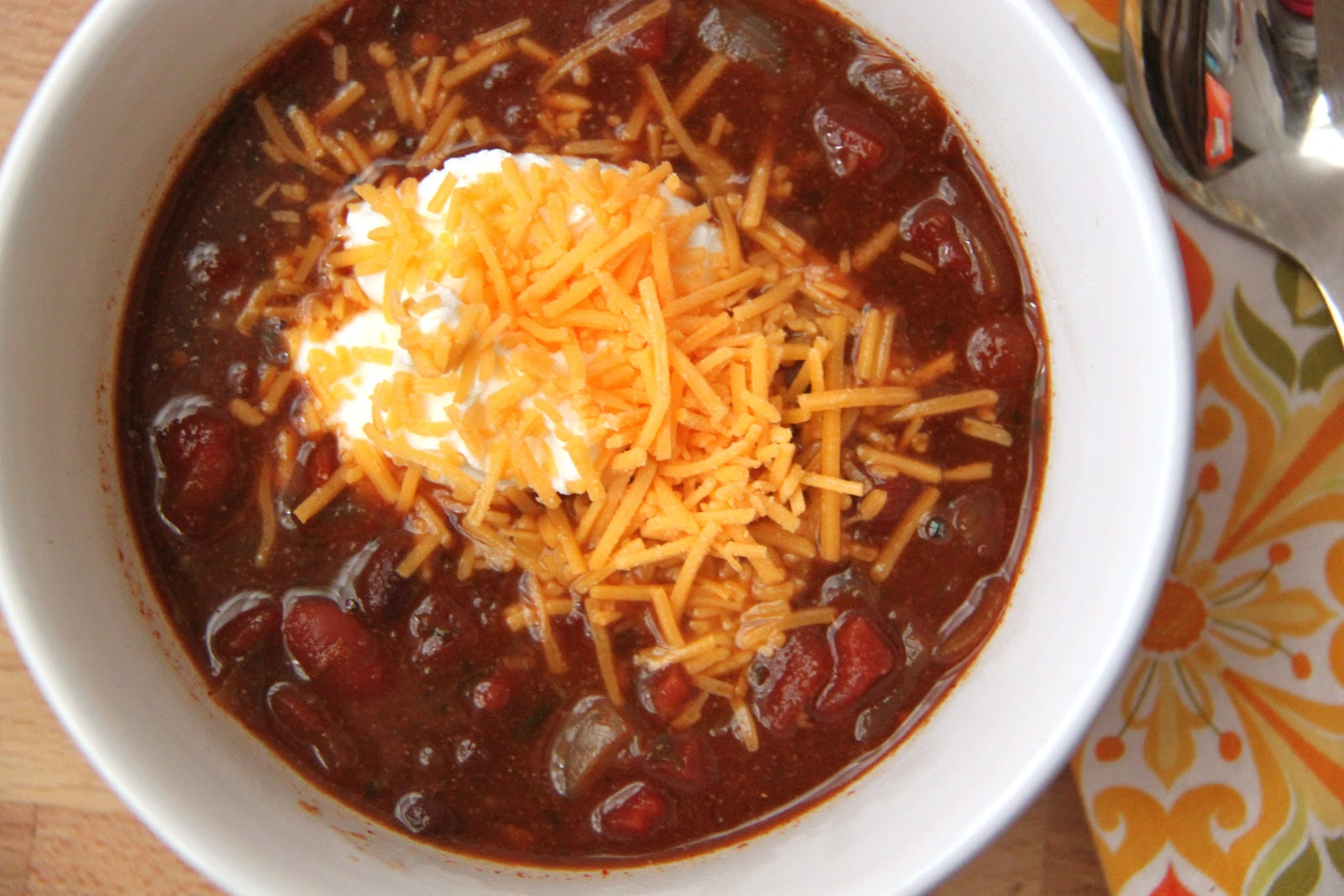 Chilly Day Vegetarian Chili - Smashed Peas & Carrots