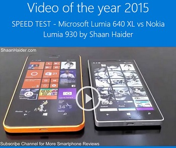 "Winner of Microsoft Lumia""Best Video Review of 2015"" Award"