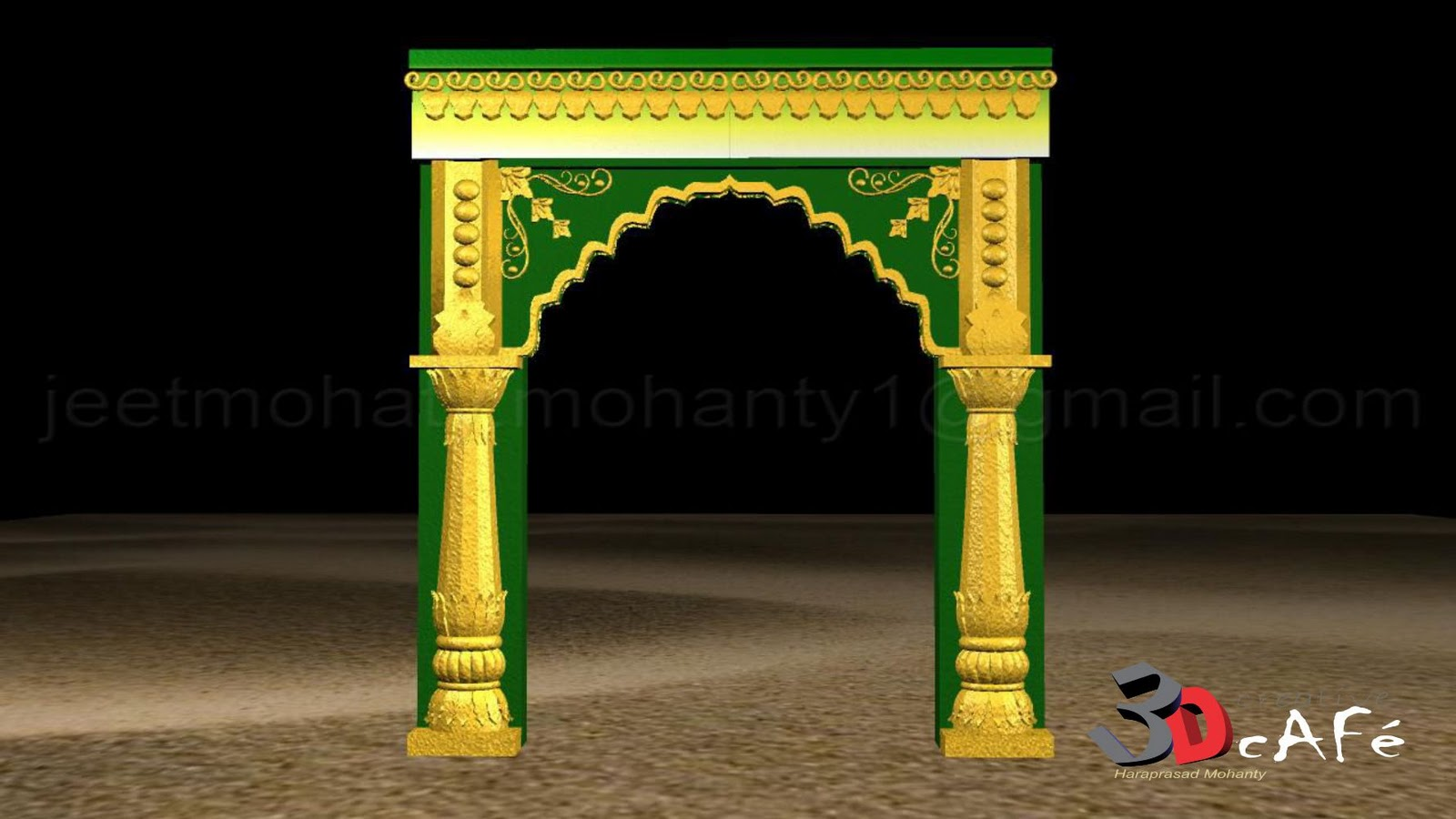 Haraprasad mohanty 3d artist entrance arch design for New house arch design