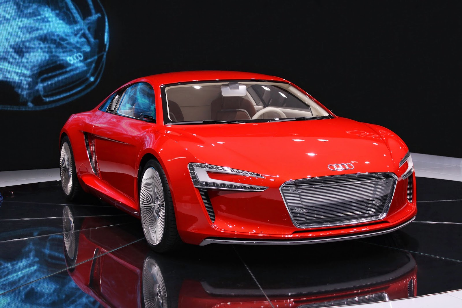 electric sports car e tron is electric and hybrid vehicle from german. Black Bedroom Furniture Sets. Home Design Ideas
