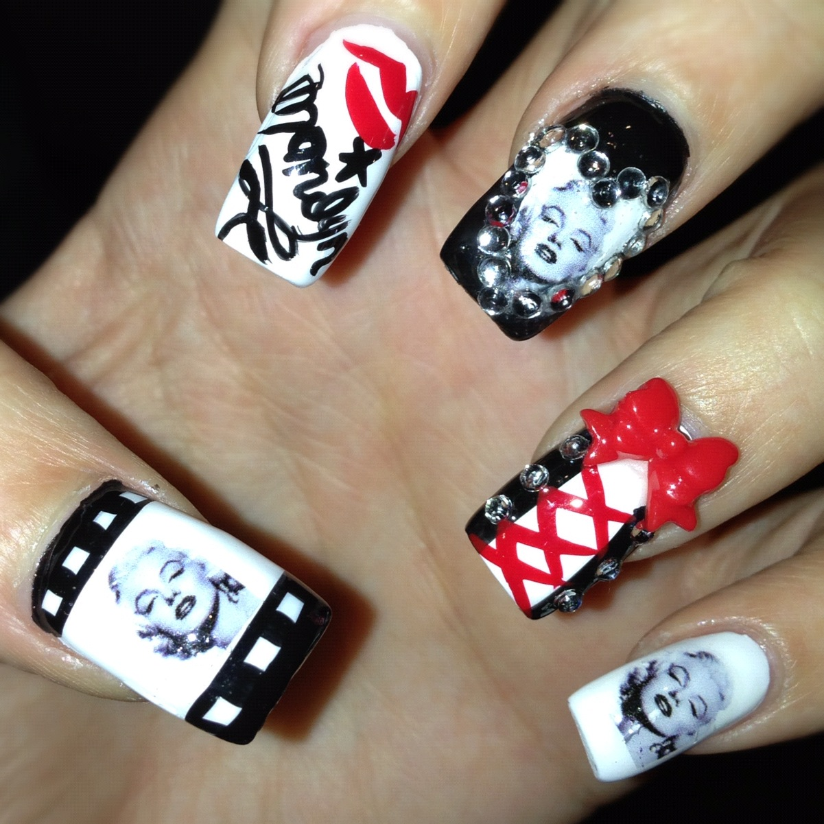 marilyn monroe nails | my pretty little nails