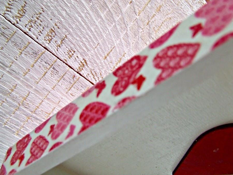 pudełko decoupage serwetka w serduszka. Pudełko hand made by ECo Manufaktura.