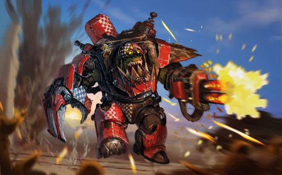 Stepan Alekseev ilustrações digitais fantasia violência Mega armadura