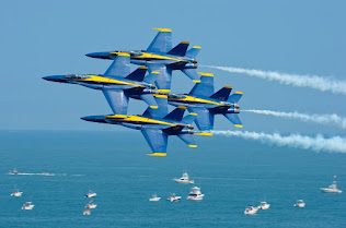 BLUE ANGELS PERFORMING AT OCEAN CITY AIR SHOW