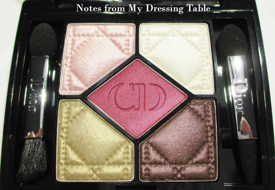 Dior Eye Shadow Quint Palette in Trafalgar Closeup notesfrommydressingtable.com