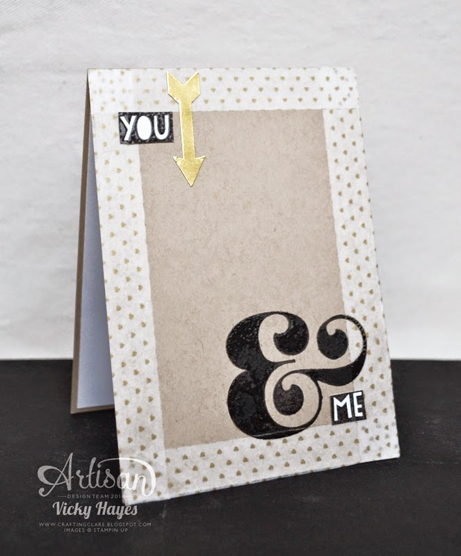 heat embossing tips with UK Stampin' Up demonstrator Vicky Hayes