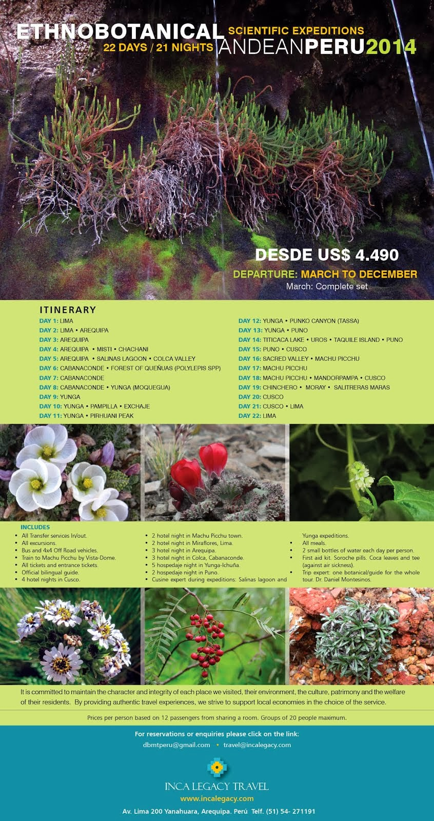 Botanical Tours in Peru