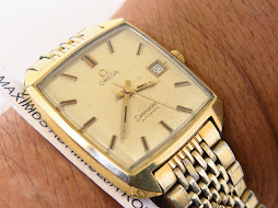OMEGA SEAMASTER SEMI SQUARE CASE GOLD - AUTOMATIC