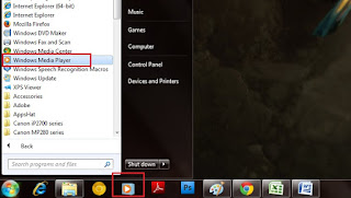 Memainkan File Audio dan Vidio Dengan Windows Media Player