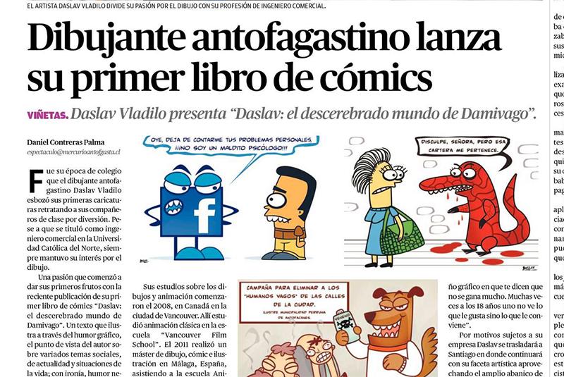 Nota en Mercurio de Antofagasta Junio 2015