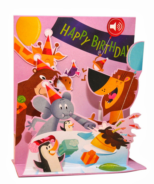 Pop Up Zoos : Rob mcclurkan zoo birthday party pop up card
