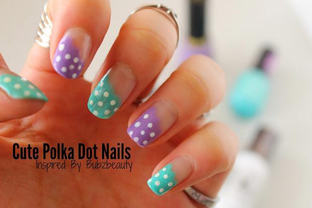 nails cute polka dots inspired