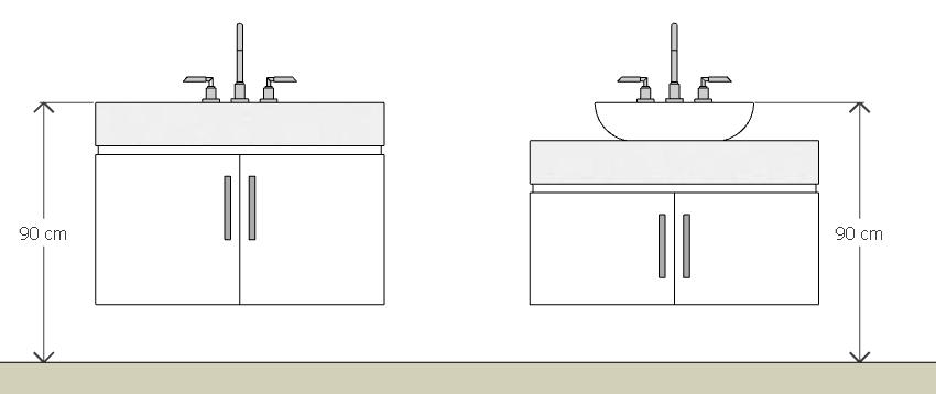 Projetos com Fernanda Ergonomia  a ciência do conforto -> Altura Para Pia De Banheiro
