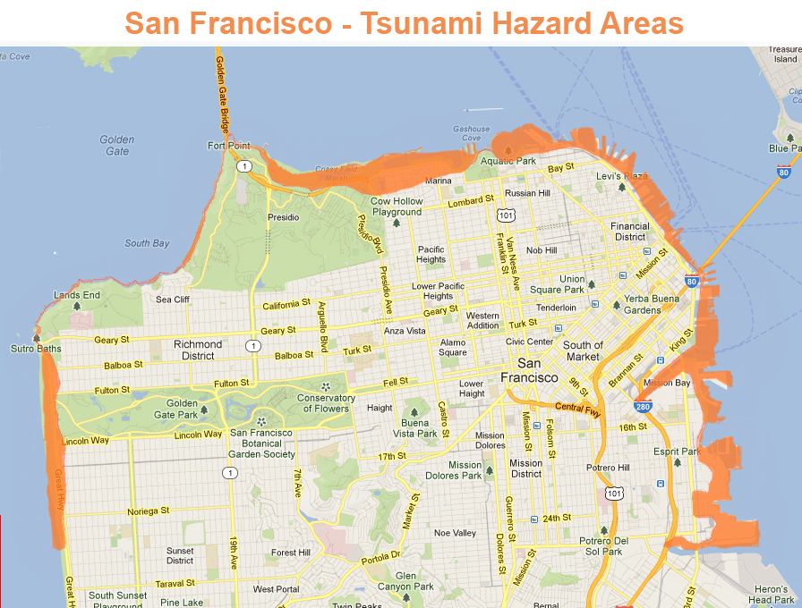 The Big Social Picture Is Your San Francisco Home Safe From Disaster - San francisco map financial district