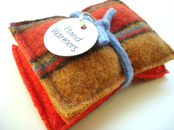 Autumn Scented Homemade Woolen Hand Warmers