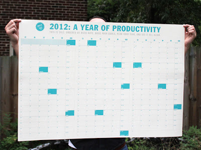 big calendar showing all of 2012