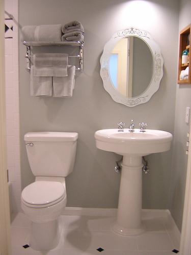 Chelsea 39 s garage small bathrooms big plans How do i remodel my bathroom