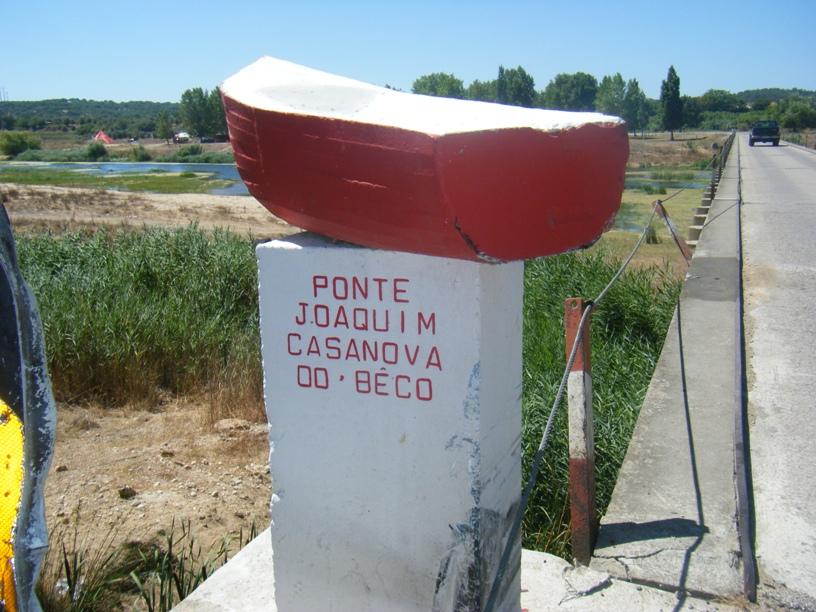 Ponte Joaquim Casanova do Bêco - placa esquerda