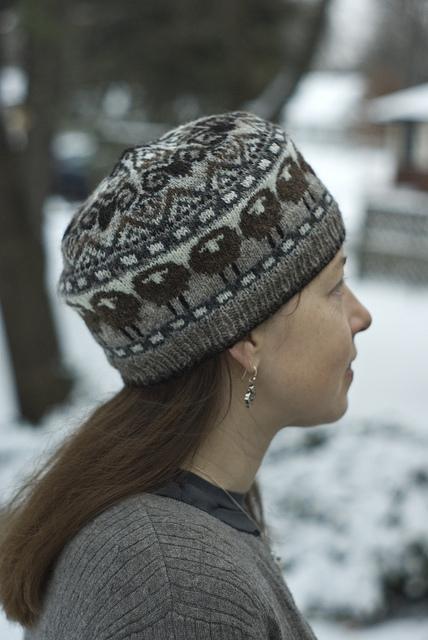 wzor czapki sciegiem norweskim