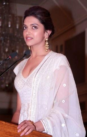 Deepika Padukone in whiote tight  dress exposing her black underwear