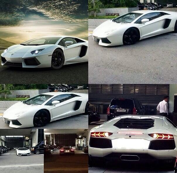Big Bang S G Dragon S Lamborghini Spotted At Yg Building