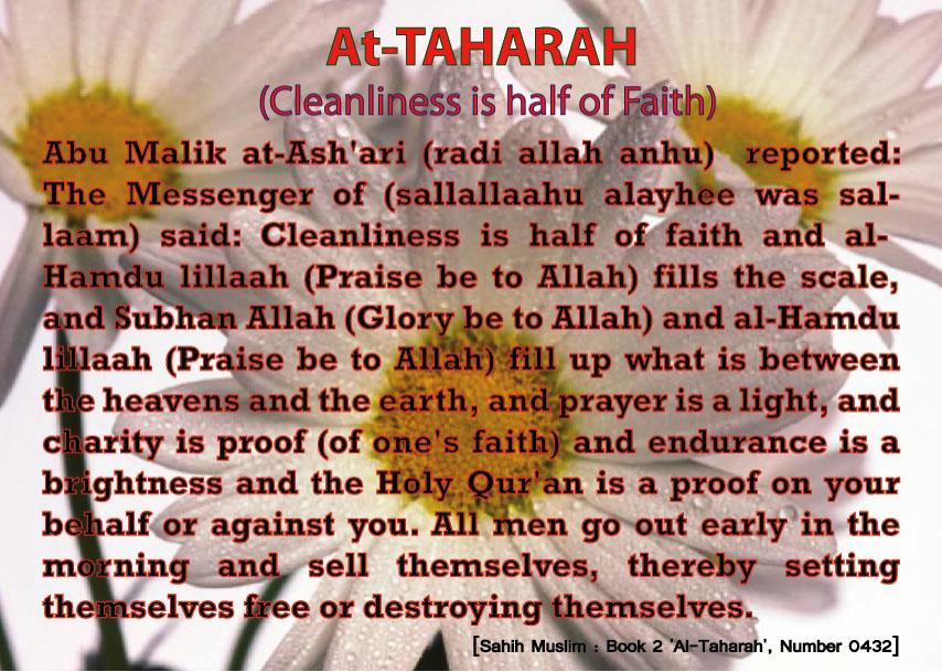 cleanliness is half of faith Cleanliness î§ the half õf faith in islam 67 likes make your city clean.