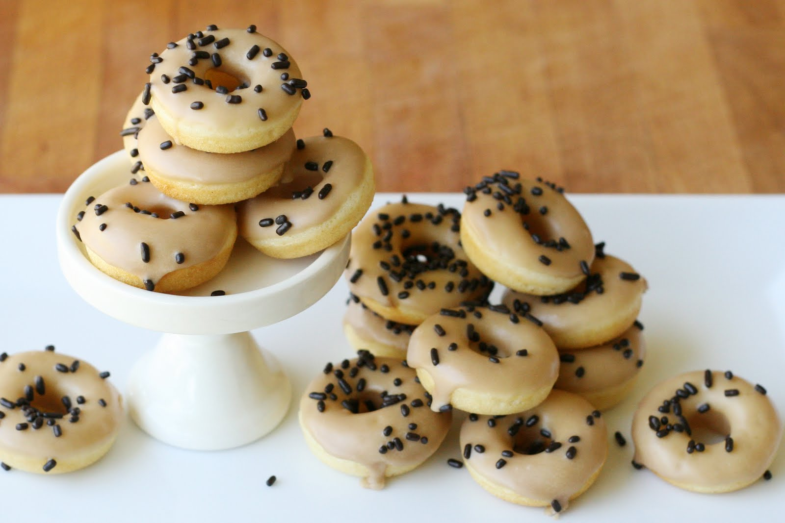 Baked Mini Cake Doughnuts with Maple Glaze {Recipe} » Glorious Treats