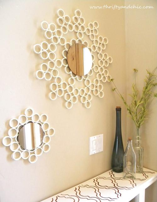 C mo decorar con espejos vintage for Como decorar un espejo redondo
