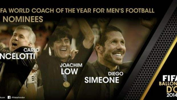 Domino Online : Inilah Tiga Finalis Pelatih Terbaik Dunia 2014!