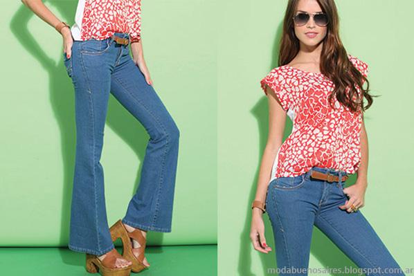 Moda verano 2014 Taverniti jeans.