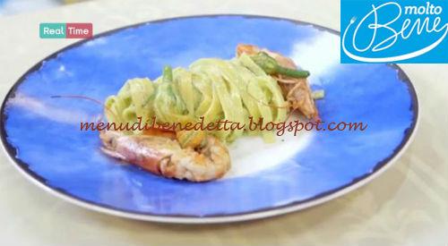 Tagliatelle gamberi e crema zucchine ricetta Parodi per Molto Bene