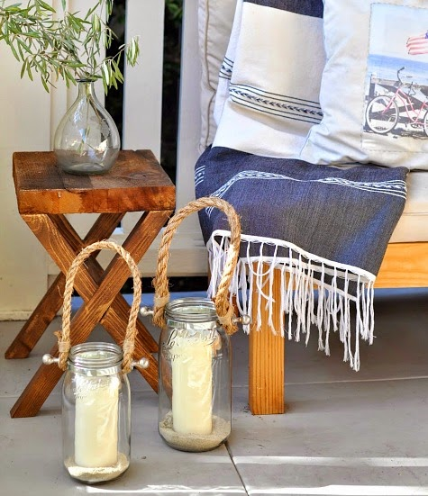 Pottery Barn DIY Candle Lantern with Rope