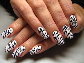 saranje noktiju - animal print nokti 009