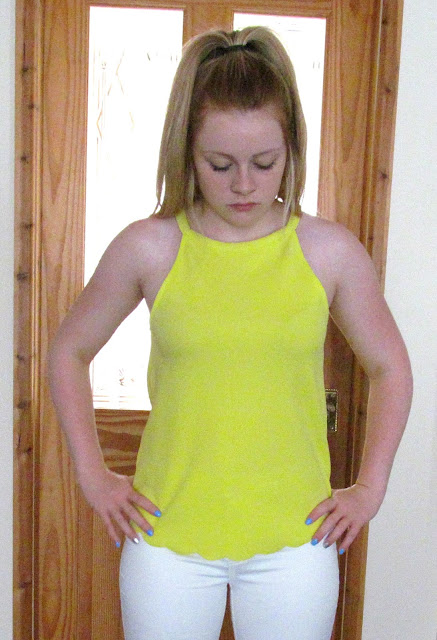 lime green cami