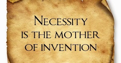 necessity is the mother of invention 4 essay Get an answer for 'describe the process in which invention breeds necessity' and   there, diamond tells us that necessity is not usually the mother of invention.
